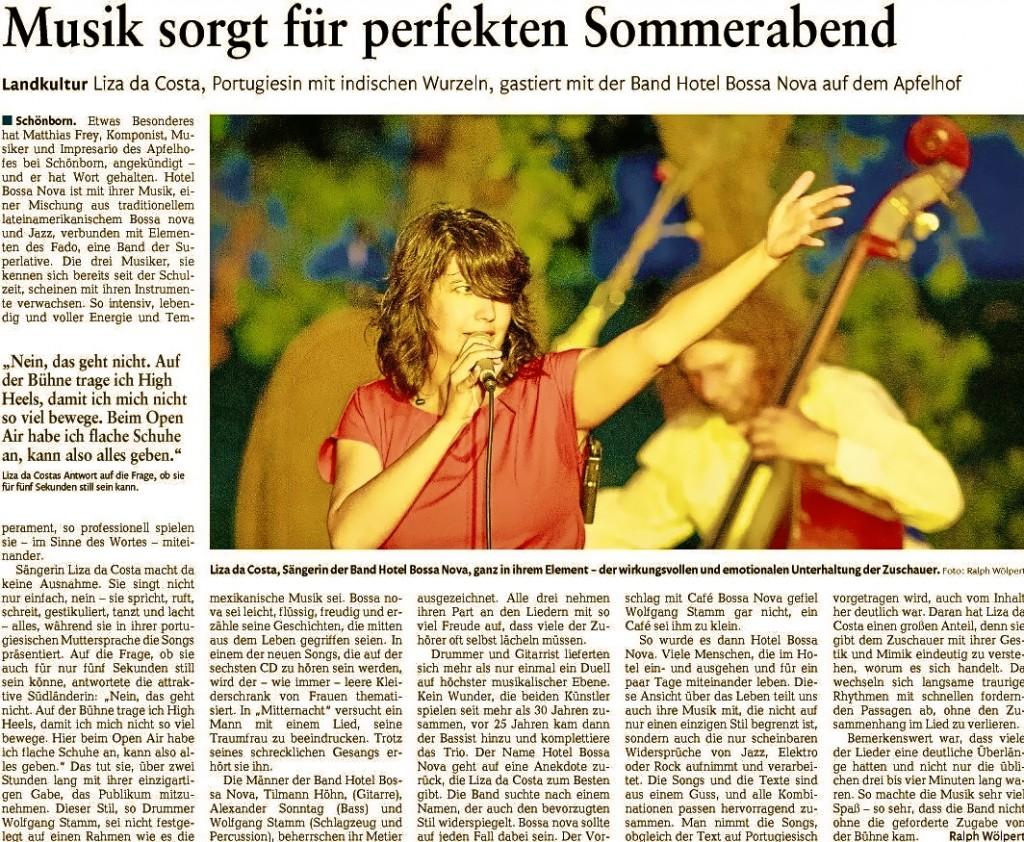 Kritik. HBN Rhein-Zeitung 29.8.2016